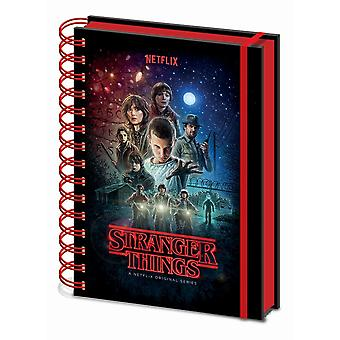 Stranger Things One Sheet Metallic A5 Wirebound Notebook