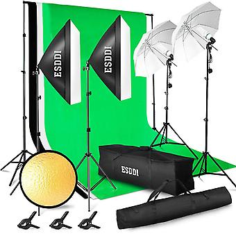 Esddi lighting kit adjustable max size 2.6mx3m background support system 3 color backdrop fabric pho