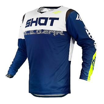 2020 Shot Contact MX Jersey Adulte - Trust Blue White