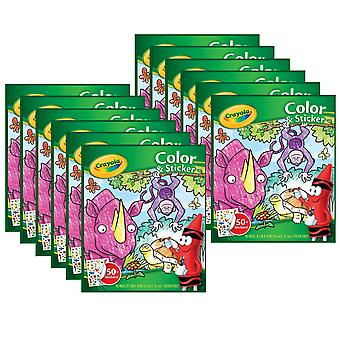 Color & Sticker Book, Jungle Animals, Pack Of 12