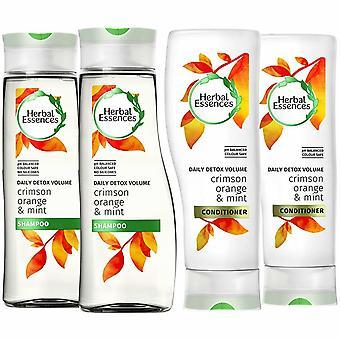 Herbal Essences Duo's Shampoo & Conditioner - 400ml, Detox Volume Pack Of 2
