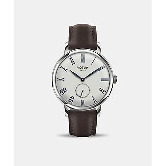 VOTUM - Reloj de señoras - VINTAGE SMALL - VINTAGE - V11.10.60.03 - correa de cuero - marrón oscuro