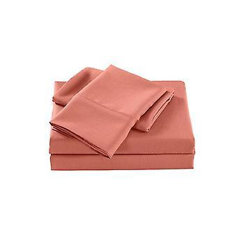 Royal Comfort 2000 Tc Bamboo Cooling Sheet Set Ultra Soft Peach