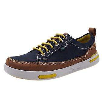 Chatham Step Sole Spring Lace Up Sneakers In Navy