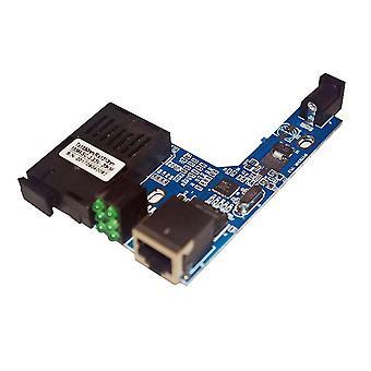 Media de transceptor de fibra Ethernet rápida Interruptor de convertidor de medio placa