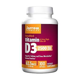 فيتامين D3 2500 وحدة دولية 100 softgels