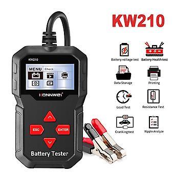 Analizador de probador de baterías de coche Kw210 para la duración de la batería, voltaje, probador de resistencia