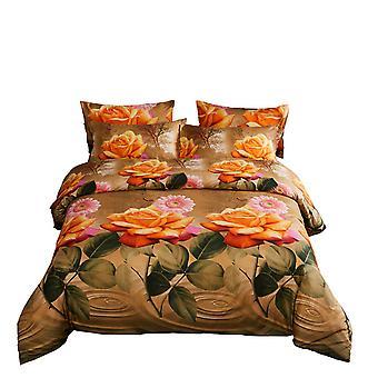 Set de cubierta de edredón king size, ropa de cama floral de lujo de 6 piezas, Dolce Mela Eden Dm721K