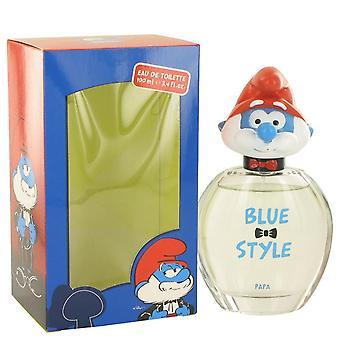 The Smurfs Blue Style Papa Eau De Toilette Spray By Smurfs 3.4 oz Blue Style Papa Eau De Toilette Spray