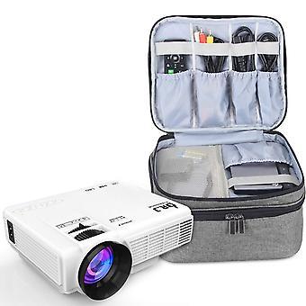 Luxja projektor taske til mini projektor, projektor bæretaske kompatibel med apeman, elephas, qkk wof48521