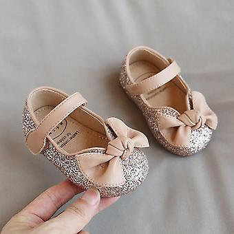 Baby Princess 1-3 Years Old Flats Fashion Bling Butterfly-knot Dress Shoes