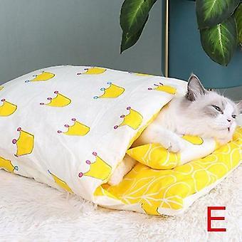 猫睡袋可拆卸冬季暖猫屋宠物床