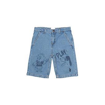 Primăvară / vară Sport Casual Pantaloni imprimate Denim