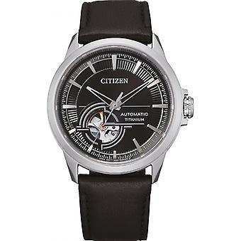 Męski zegarek CITIZEN MONTRES NH9120-11E - Czarna bransoletka silikonowa