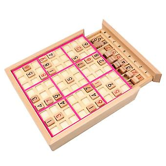 Wooden Sudoku Nine Square Grid Game Chess Kid's Logical Trainning