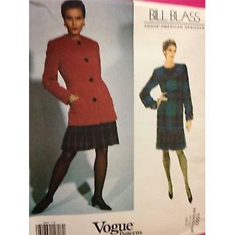 Vogue patrón de costura 1027 señoras / señoritas chaqueta vestido tamaño 6-10 sin cortar