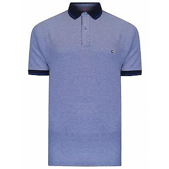 PETER GRIBBY Peter Gribby Mens Big Size Contrast Collar Plain Cotton Pique Polo