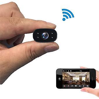 מצלמות ריגול מצלמה מיני 1080P HD מעקב מרחוק מעקב תנועה זיהוי זווית רחבה מצלמת מעקב וידאו מקליט (שחור)