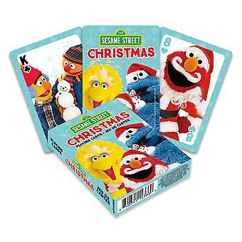 Plaza Sésamo - tarjetas de juego de Navidad