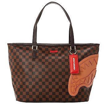 Sprayground Henny Brown Tote Bag
