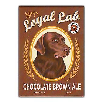 Magnet, Køleskab Magnet, Loyal Lab Chokolade Brown Ale, 2,5&X