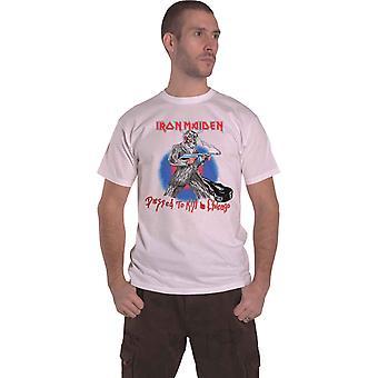 Iron Maiden T Shirt Chicago Mutants Band Logo new Official Mens White