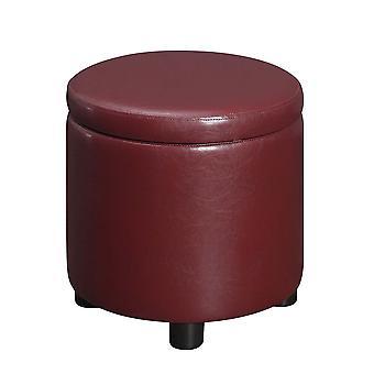 Designs4Comfort Round Accent Storage Ottoman - R9-186
