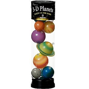 Pianeti 3D in un tubo glow-in-the-dark