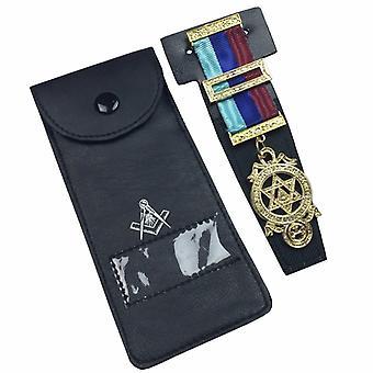 Qualität Masonic regalia Tasche Juwel Halter / Brieftasche Freimaurer tragen Fall