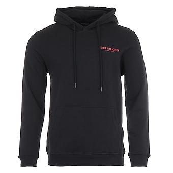 True Religion Logo Hooded Sweatshirt - Black
