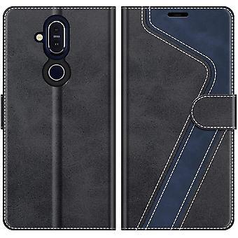 FengChun Handyhülle für Nokia 8.1 Hülle Leder, Nokia 8.1 Klapphülle Handytasche Case für Nokia 8.1