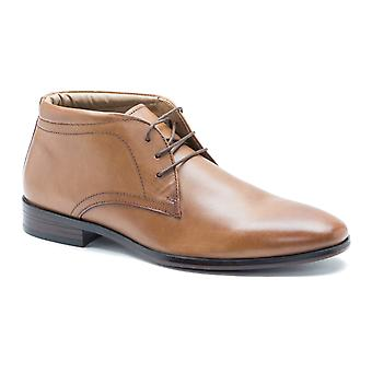 Red Tape Calcot Tan Leather Mens Formal Desert Boots