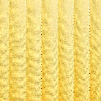 vidaXL sillas de comedor 4 piezas de tela amarilla