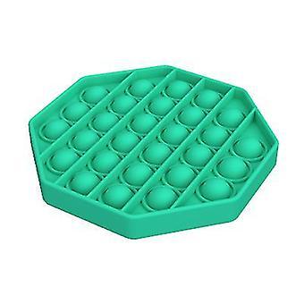 2 Stücke grün Achteck Form erwachsene Kinder drücken Blase Fidget Spielzeug für Autismus Menschen az8592