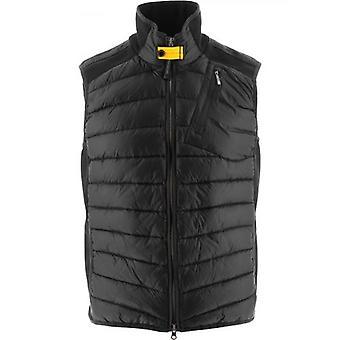 Parajumpers Black Zavier Fleece Nylon Vest