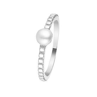 Silver ring och pärla av vit kultur 'apos;Perlicate'apos;