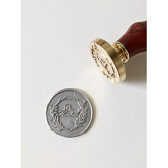 Wreath Wedding Wax Seal Stamp With Initials