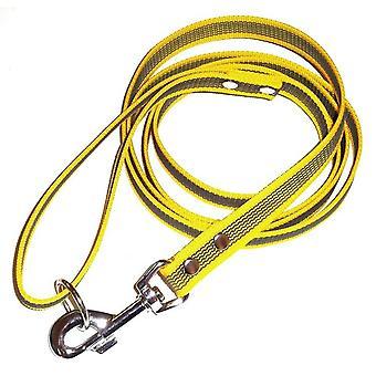 Anti-slip leash with handle, Yellow