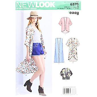 New Look Sewing Pattern 6378 Misses Easy Kimnons Size XS- XL