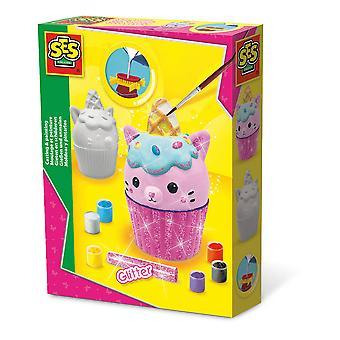 SES Kreative Barnas Unikitty Cupcake Casting & Maleri Sett Aktivitet Sett