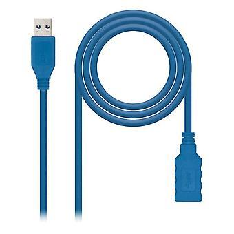 Adaptateur USB C vers DisplayPort NANOCABLE 10.01.0901-BL Bleu