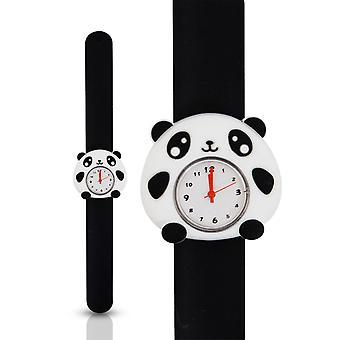 Kids Watch Girls Boys Bendable Slap Watch Silicone Cartoon Character-Panda
