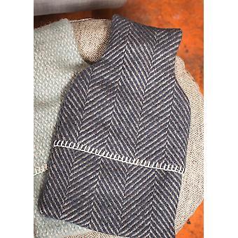 Luxe visgraat patroon wol warm water fles