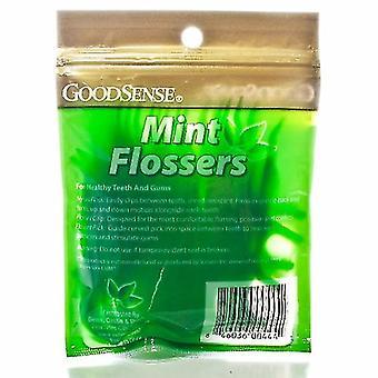 Good Sense Mint Dental Flossers, 50 Count