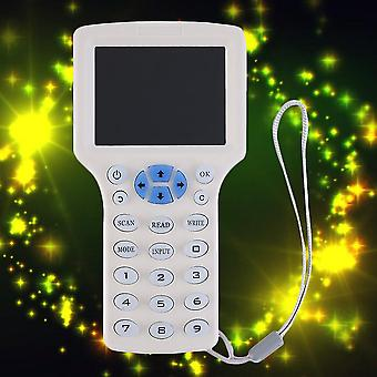 Vit 9 frekvenskopia krypterad Nfc Smart Card Rfid Copyer Id / ic Reader Writer