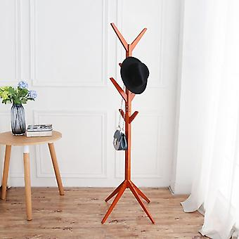 8 Hooks Clothes Wooden Tree Shape Rack