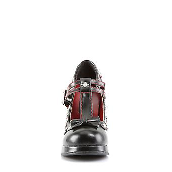 Demonia Chaussures pour femmes CRYPTO-06 Blk Vegan Cuir