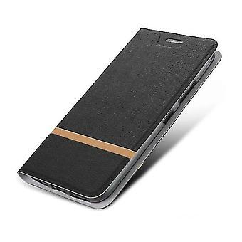 Funda protectora PU Folio para Huawei G10 Negro