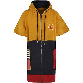Wave Hawaii Unisex Dusty Zip Up Surfing Hooded Changing Towel Poncho - Mustard