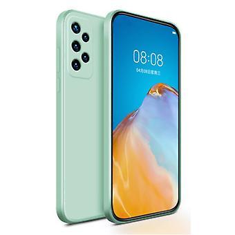 My choice Samsung Galaxy A41 Square Silicone Case - Soft Matte Case Liquid Cover Light Green
